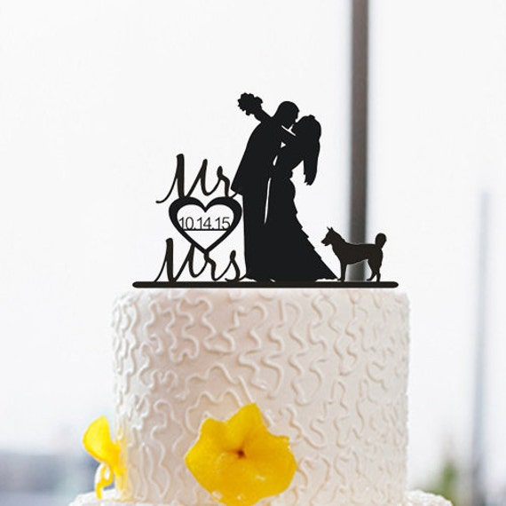 wedding cake topper silhouette with dogs silhouette cake topper with wedding by dreamsgarden 26501