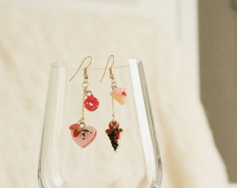 Cake party earrings