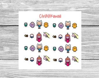 Kawaii Adventure Time Planner Sticker