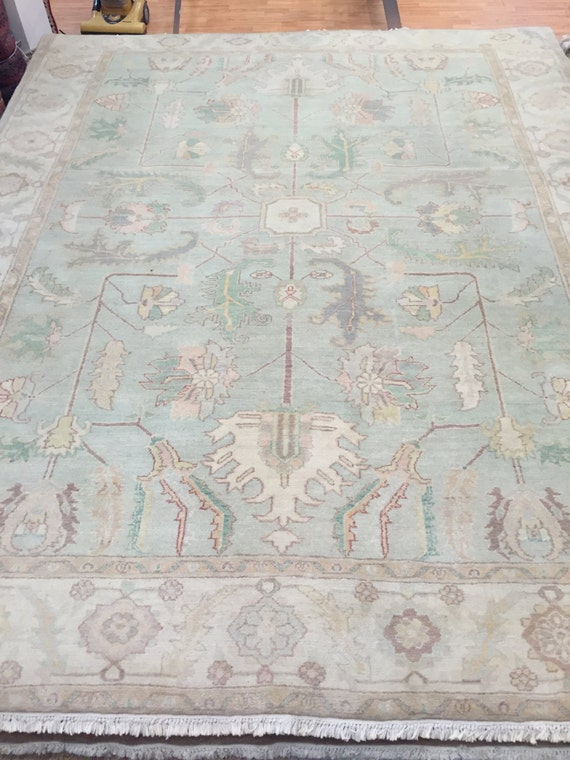 "8'4"" x 10'4"" Egyptian Oriental Rug - Hand Made - Antique Look - 100% Wool"