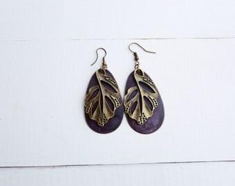 Royal Leaf Earrings