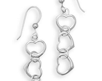 Cut Out Heart Drop Earrings