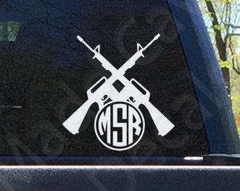 AR15 Monogram Sticker Decal Car Window Laptop Phone 2nd Amendment