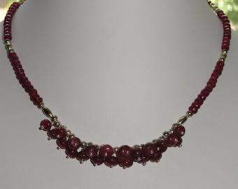 Ruby Necklace Set  #480