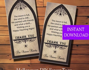 Halloween Favor Tags - Halloween Party Tags - Halloween Trick or Treat Tags - Treat Bag Tags - Printable - Instant Download - Diy