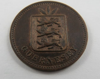 Guernsey 1889H Four Doubles Coin.