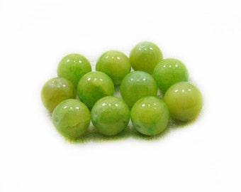 Green Jade Beads, Jade Beads, 12mm Jade Beads, Green Beads, Round Beads, 10 pcs Jade Beads, Jewelry Making, Craft Supplies