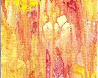 Abstract Sunburst on Canvas Panel