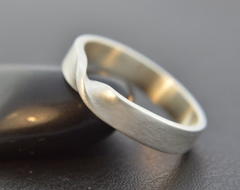 Mobius Ring, Brushed Finish, Sterling Silver Ring, Silver Mobius Ring, Twisted Ring, Infinity Ring, Sterling Silver 925