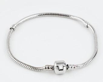 Snake Chain European Style Bracelet  7.5in (Pandora Style)