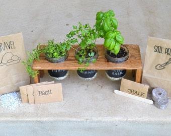 DIY Mason Jar Herb Garden- with Chalkboard Vinyl, Do-it Yourself
