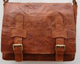 Leather Satchel/Messenger Bag