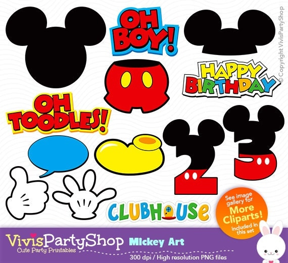 mickey mouse toodles clipart - photo #21