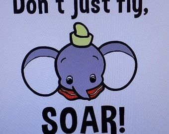 "Dumbo-inspired, ""Don't Just Fly, SOAR!"" Kid's tee"