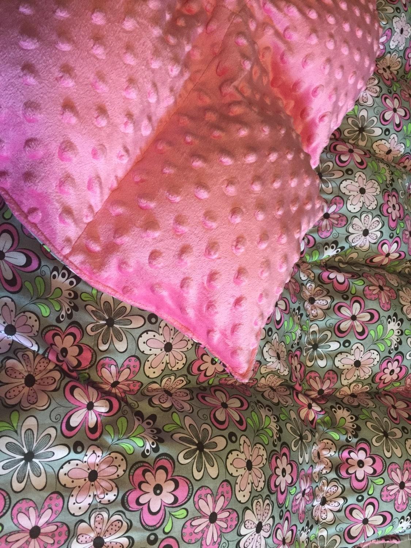 Weighted Blanket Minky Sensory Blanket Autism Blanket Puffy