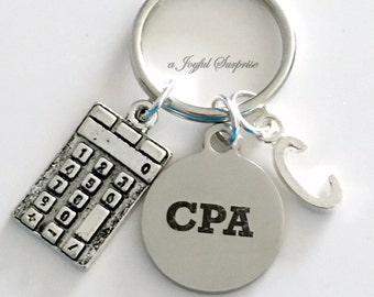 Gift for CPA Gift, CPA Key Chain, Chartered Professional Accountant Present, CPA KeyChain, Accounting Graduation Keyring with Initial letter