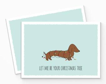 PRINTABLE Sausage Dog Christmas Card. Dachshund Christmas Card. Instant Download. Dog Christmas Card. Happy Holiday Card. DIY Christmas Card
