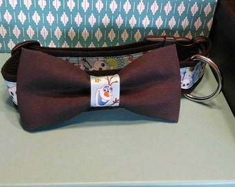Size Large  - 1 1/2 Collar with Bow Tie