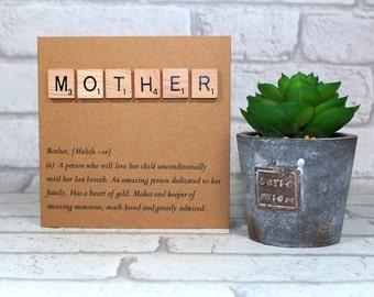 Birthday card for Mum - Mother definition card - card for mother - card for her - Birthday card - Mother's Day card - Mom - mummy - mam