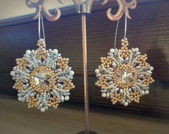 Earrings with Swarovski crystals