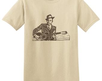 ROBERT JOHNSON - King Of The Delta Blues Guitar T-shirts - bluesman tees - Small, Medium, Large, Extra Large, 2XL, 3XL, 4XL, 5XL
