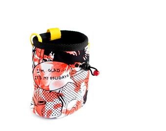 Big Chalk Bag. Chalk Bag for Bouldering and Rock Climbing. Large Chalk Bag. Ergonomic Design, Handmade, Size L
