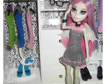 Crochet dress for Monster high dolls