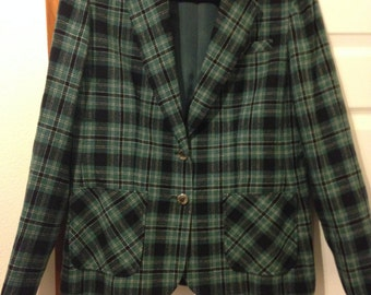 Young Pendleton Plaid Blazer