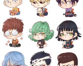 Individual One Punch Man Key Chains/Charms