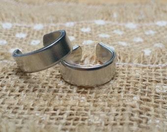 10 Polished  1/4' Ring Blanks 14g 1100 Food Safe Aluminum- FLAT