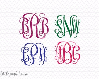 Vine Monogram Svg, Monogram Fonts, svgs fonts, monogram fonts svg, svgs for cricut, silhouette files, silhouette cameo, instant download