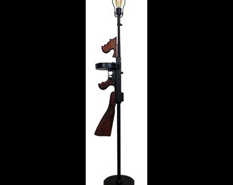 "Trigger Opperated ""Tommy"" Gun Floor Lamp Gun Lamp"