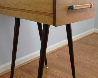 Re purposed Side tables End tables made from Vintage Alma Desk Company Tanker MCM Desk Drawers-Style #A6