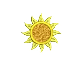 SUN - machine embroidery design - Instant Download