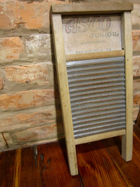 Vintage Washboard 1920s Philadelphia Asco Junior Laundry