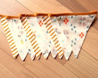 Garland of fabric pennants