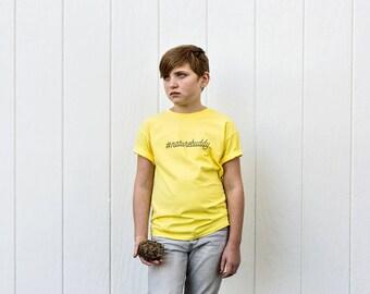 Nature Buddy T-Shirt in Honey Bee Yellow (Youth)