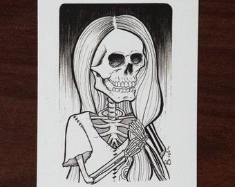 Sally art print/ nightmare before christmas inspired fanart illustration