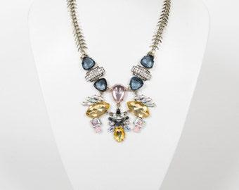 Statement Ornate Vintage Jewel Bib Necklace SALE 60% OFF