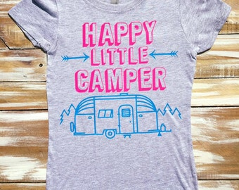 I Don't Camp I Glamp Camping Glitter Vinyl Shirts