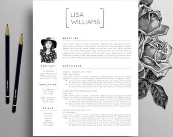 Creative Resume Template, Instant Download, Word, CV Template, Modern Resume Template, Designer Resume, Cover Letter, Instant Download, Lisa