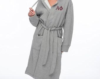 APhi, Alpha Phi, Sweatshirt Hoodie Robe, Alpha Phi Robe
