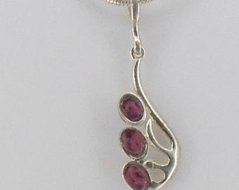 rhodolite Garnet necklace 925 Silver