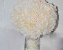 ivory paper flower centerpieces, wedding decorations, wedding centerpieces, wedding bouquet, ivory wedding, wedding table decor