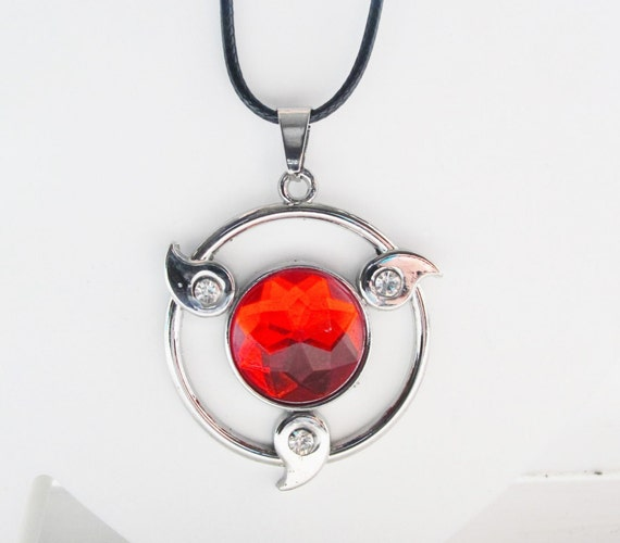 anime items sharingan dart silver necklace