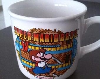 Vintage Super Mario Bros Mug - 1992 Nintendo Mug - 100% original & Licensed - Very Rare