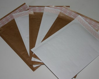 50 Eco Friendly Size #0 6x9 Brown 6x10 White Kraft Bubble Mailers Extra Lightweight Padded Envelopes 25 Each