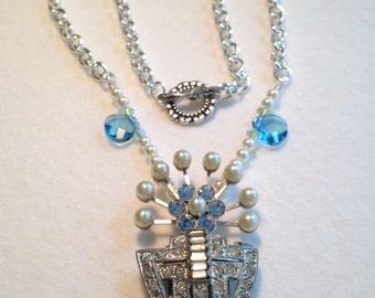 1930's Art Deco repurposed necklace