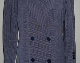 Vintage 1980's Escada Margaretha Ley Double Breasted Boyfriend Jacket UK 10 - 12