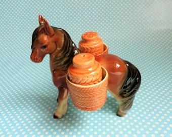 Sweet little ceramic pony salt and pepper set
